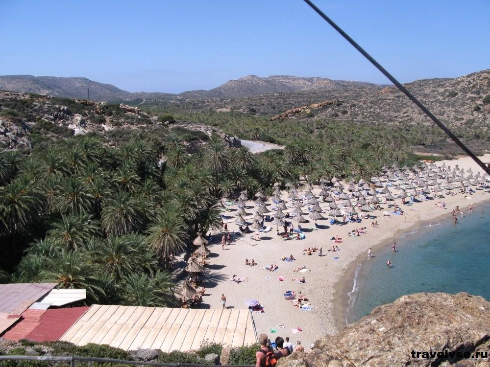 Пляж Ваи на Крите