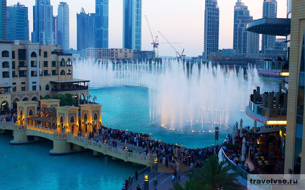 Музыкальный фонтан в Дубае