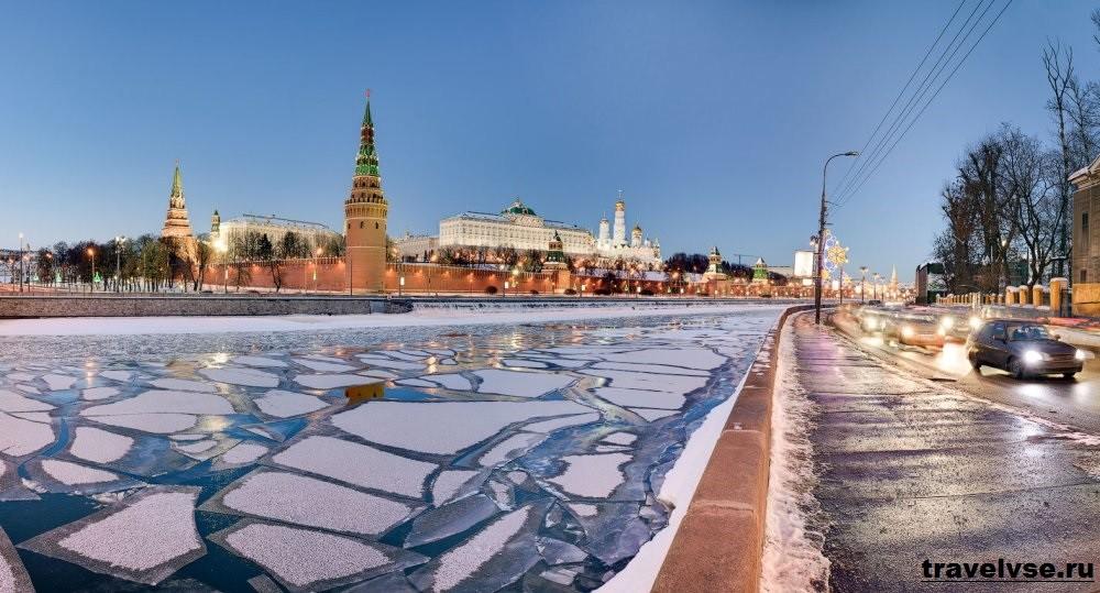 Москва в зимнее время