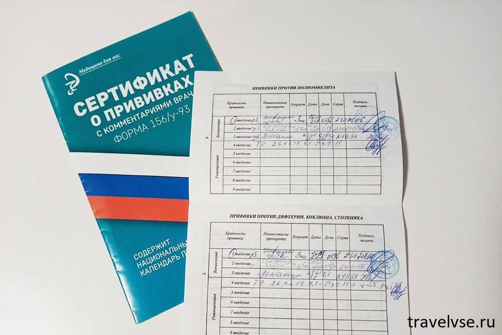 сертификат о прививке